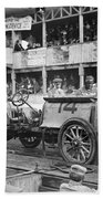 Auto Racing, 1910 Bath Towel