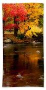 Autumn Colors Reflected Bath Towel