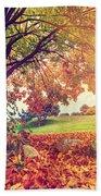 Autumn Fall Park Bath Towel