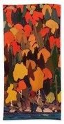 Autumn Foliage Bath Towel