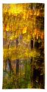 Backlit Leaves Abstract Bath Towel