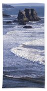 Bandon Beach Seastacks 4 Bath Towel