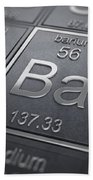 Barium Chemical Element Bath Towel