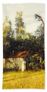 Barn Landscape Bath Towel