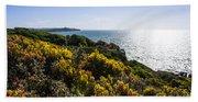 Bass Strait Ocean Landscape In Tasmania Bath Towel