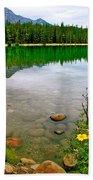 Beauvert Lake In Jasper Np-ab Bath Towel