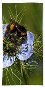 Bee Collecting Pollen Bath Towel