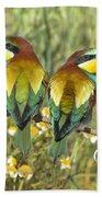 Bee-eaters Bath Towel