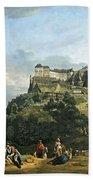 Bellotto's The Fortress Of Konigstein Bath Towel