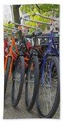 Bicycles In Amsterdam Bath Towel