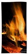 Blazing Campfire Bath Towel