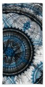 Blue Clockwork Bath Towel