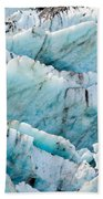 Blue Glacier Ice Background Texture Pattern Bath Towel