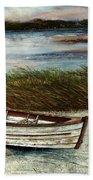 Boat On Shore Bath Towel