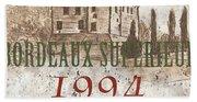 Bordeaux Blanc Label 2 Bath Towel