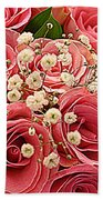 Bouquet Of Pink Roses Bath Towel