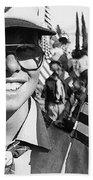 Boy Scout Veteran's Day Parade Tucson Arizona 1990 Black And White Bath Towel