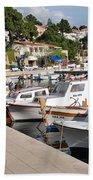 Brela Harbour Croatia Bath Towel