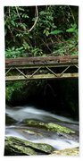 Bridge Over Mountain Stream Bath Towel