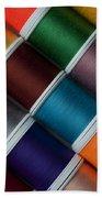 Bright Colored Spools Of Thread Bath Towel