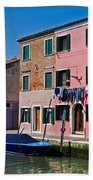 Burano, Venice Bath Towel