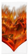 Burning Love  Brennende Liebe Bath Towel