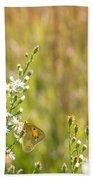 Butterfly In A Field Of Flowers Bath Towel