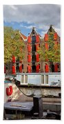 Canal In The City Of Amsterdam Bath Towel