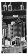 Cape Town Skyline - South Africa Hand Towel