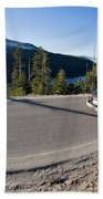 Cars Driving Along Hwy 89 Over Emerald Bath Towel