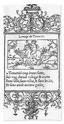 Cartouche, 1543 Bath Towel