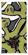 Cat / Shoe / Rose Bath Towel