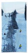 Cat Skiing At Fortress Mountain Bath Towel
