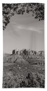 Cathedral Rock Framed By Juniper In Sedona Arizona Bath Towel