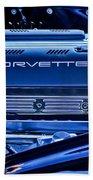 Chevrolet Corvette Engine Bath Towel