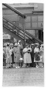 Chicago Commuters, 1940 Bath Towel