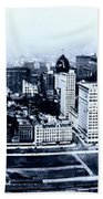 Chicago Panorama 1915 Bath Towel