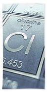 Chlorine Chemical Element Bath Towel