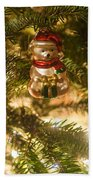 Christmas Tree Ornaments Bath Towel