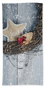 Christmas Wreath Bath Towel