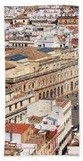 City Of Seville Cityscape In Spain Bath Towel