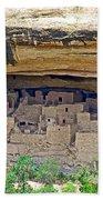 Cliff Palace From Chapin Mesa Top Loop Road In Mesa Verde National Park-colorado Bath Towel