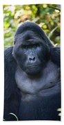 Close-up Of A Mountain Gorilla Gorilla Bath Towel