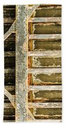 Close-up Of A Weathered Wall, Los Bath Towel