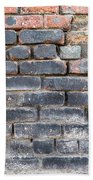 Close-up Of Old Brick Wall Bath Towel