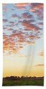 Clouds Over Landscape At Sunset Bath Towel