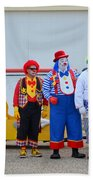 Clown Lineup Bath Towel