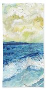 Coastal Clouds Bath Towel