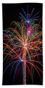 Colorful Fireworks Bath Towel