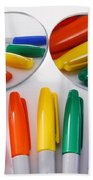 Colorful Markers Bath Towel